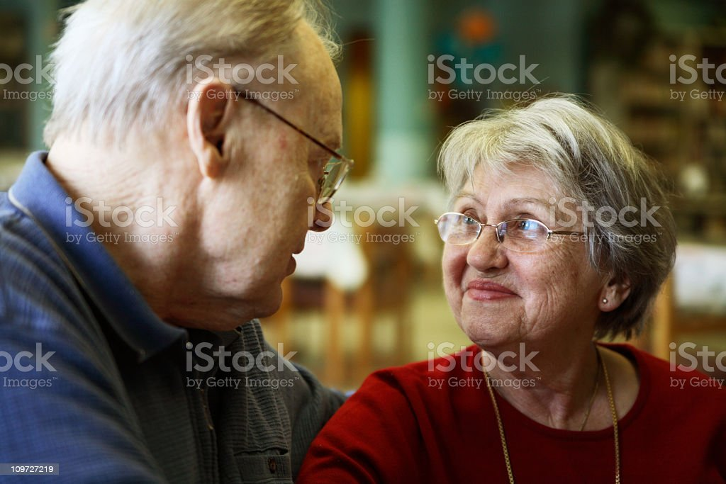 My Parents - happy senior couple stock photo