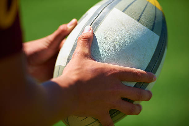 my passion is rugby - rugby ball stock photos and pictures