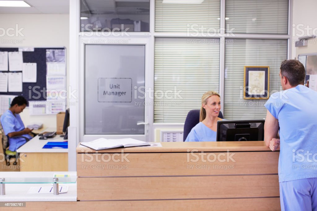 My patient's going into surgery soon stock photo
