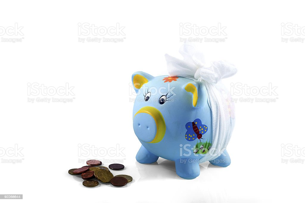 my piggy-bank is hurt royalty-free stock photo