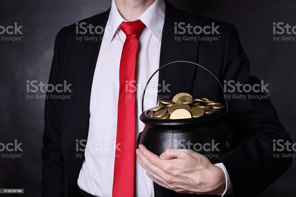 My pot of gold! stock photo