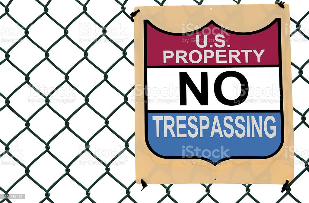 My Property No Tresspassing Sign stock photo