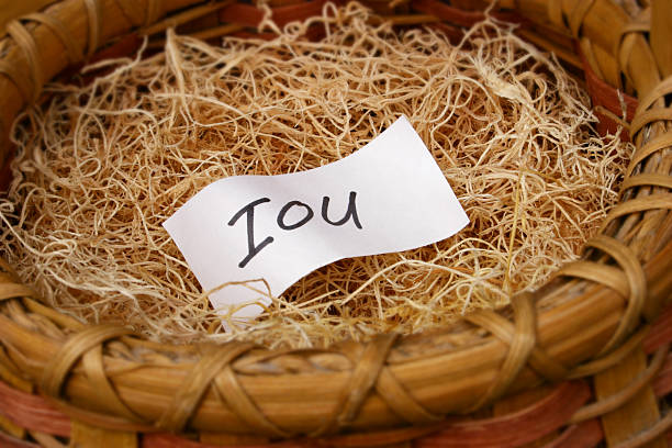 IOU my retirement  borrowing stock pictures, royalty-free photos & images