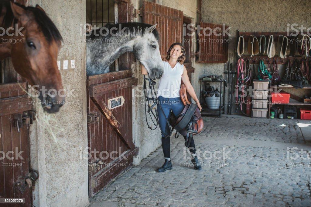 My riding friend stock photo