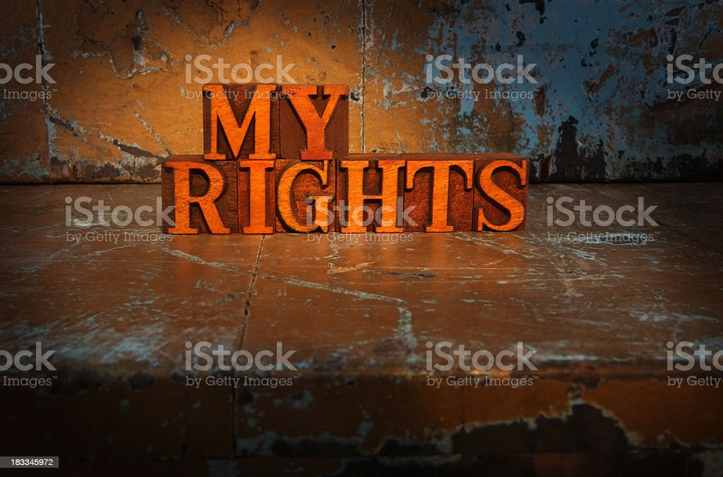 My Rights -Lit up words royalty-free stock photo