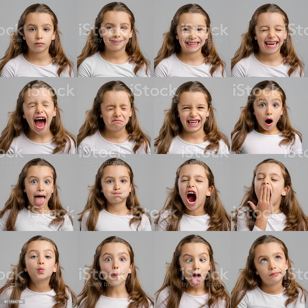 My several diferent moods stock photo
