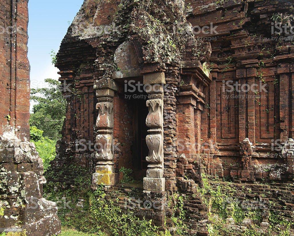 My Son Sanctuary, UNESCO World Heritage Site at Danang, vietnam. stock photo