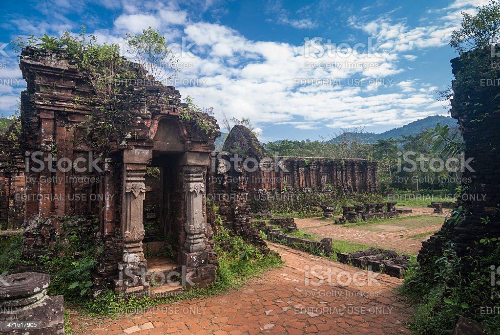 My Son Sanctuary, Vietnam stock photo