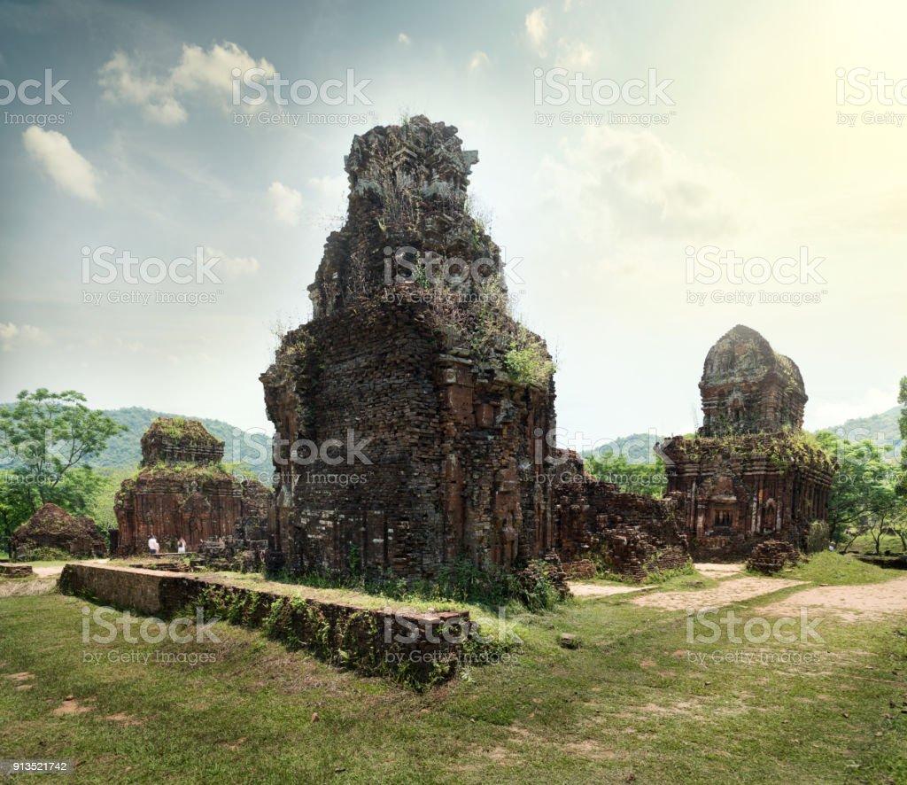 My Son Temple , Vietnam stock photo