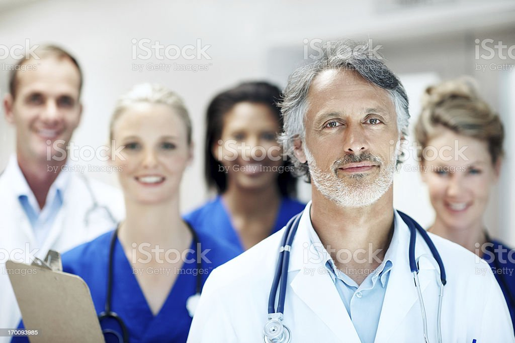 My staff make a powerful team royalty-free stock photo
