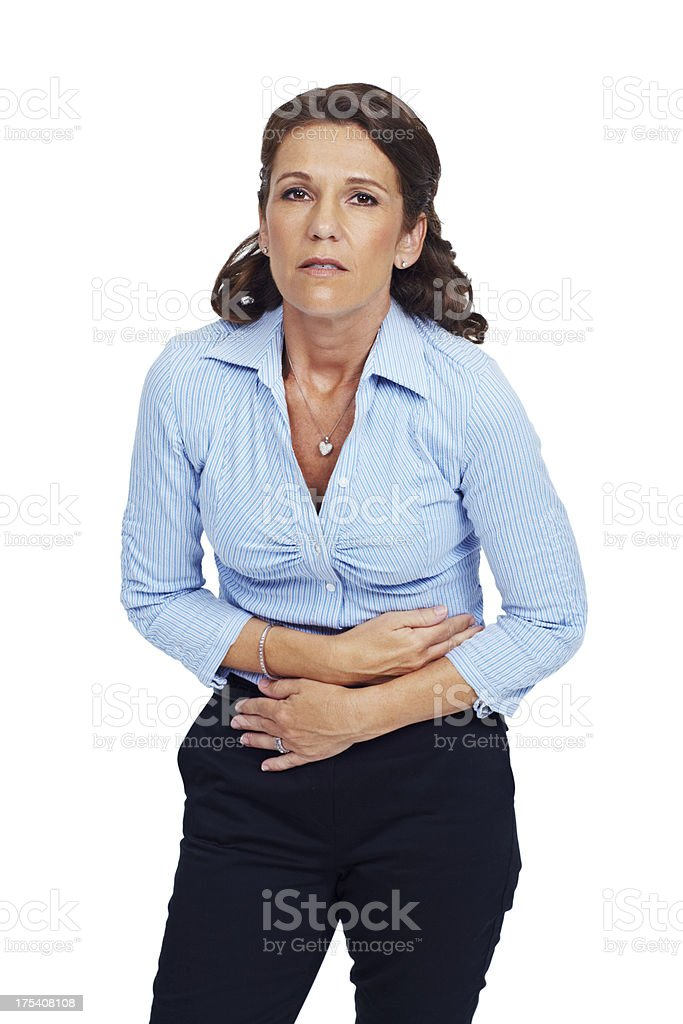 My stomach aches royalty-free stock photo