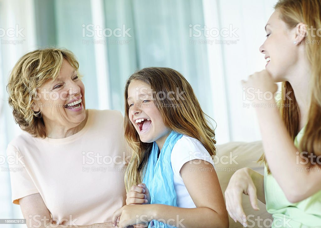 My stomach hurts I'm laughing so much! royalty-free stock photo