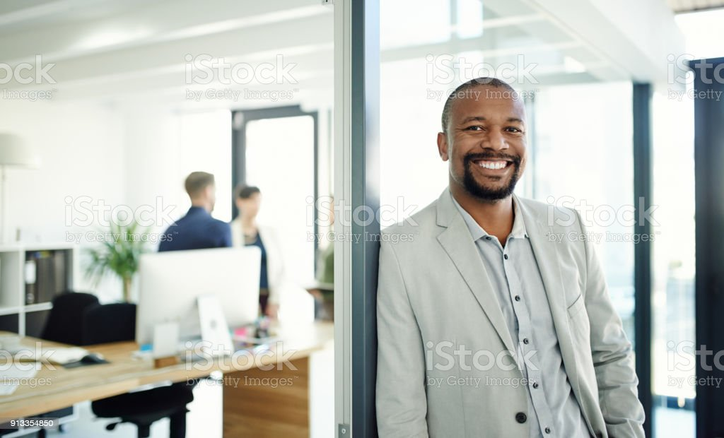 My team works hard to make success happen stock photo