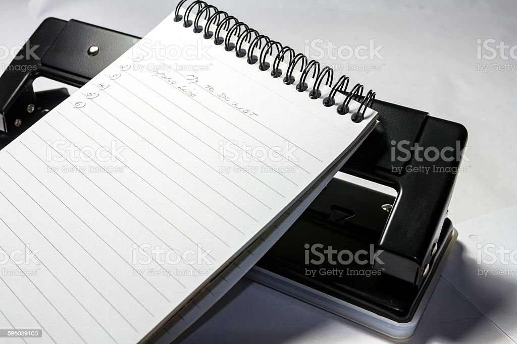 My To Do List stock photo