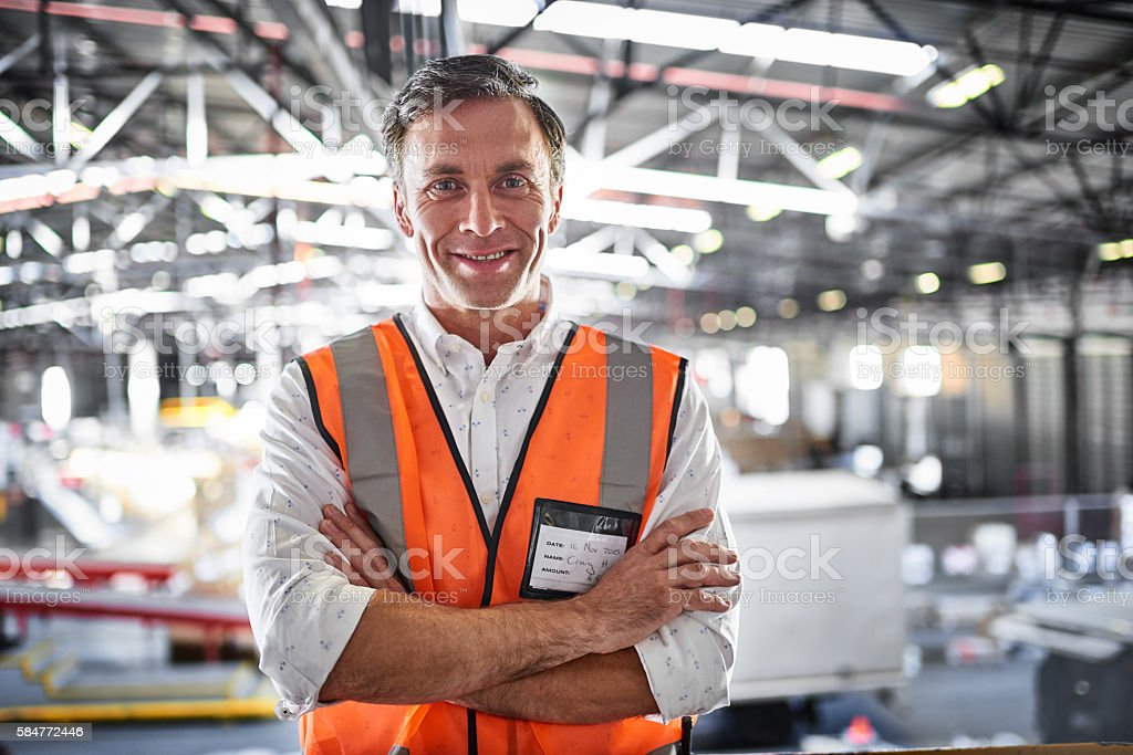 My warehouse is a well-oiled machine stock photo