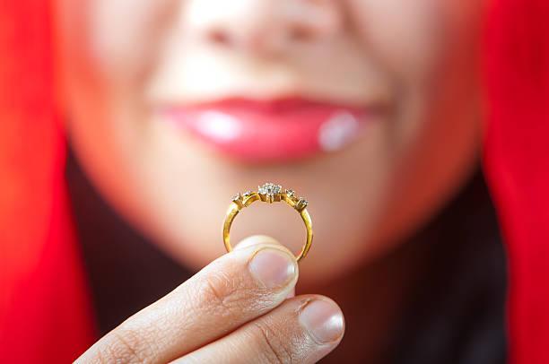 My wedding ring stock photo
