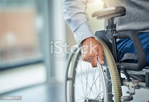 Cropped shot of an unrecognisable senior man in a wheelchair
