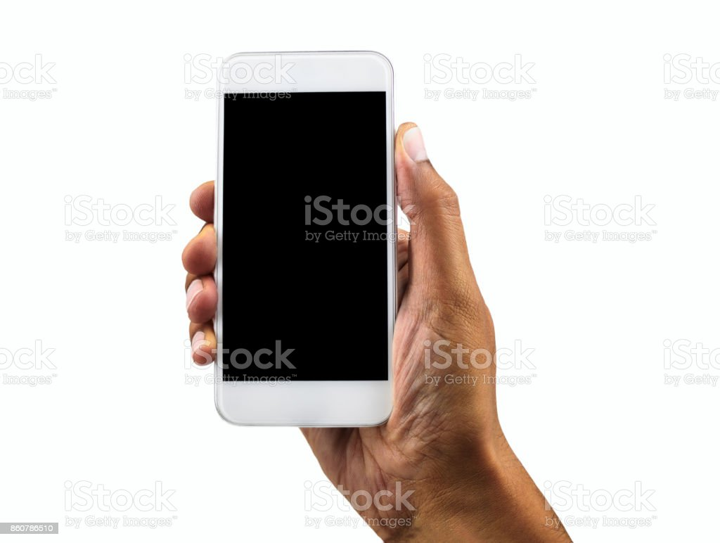 my white phone vertical stock photo