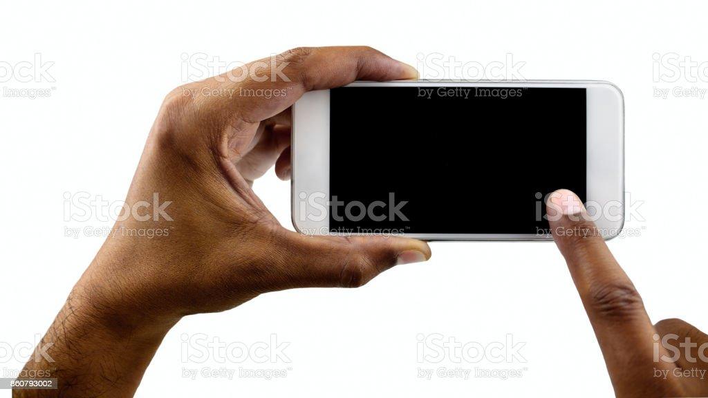 my white phone vertical stock photo