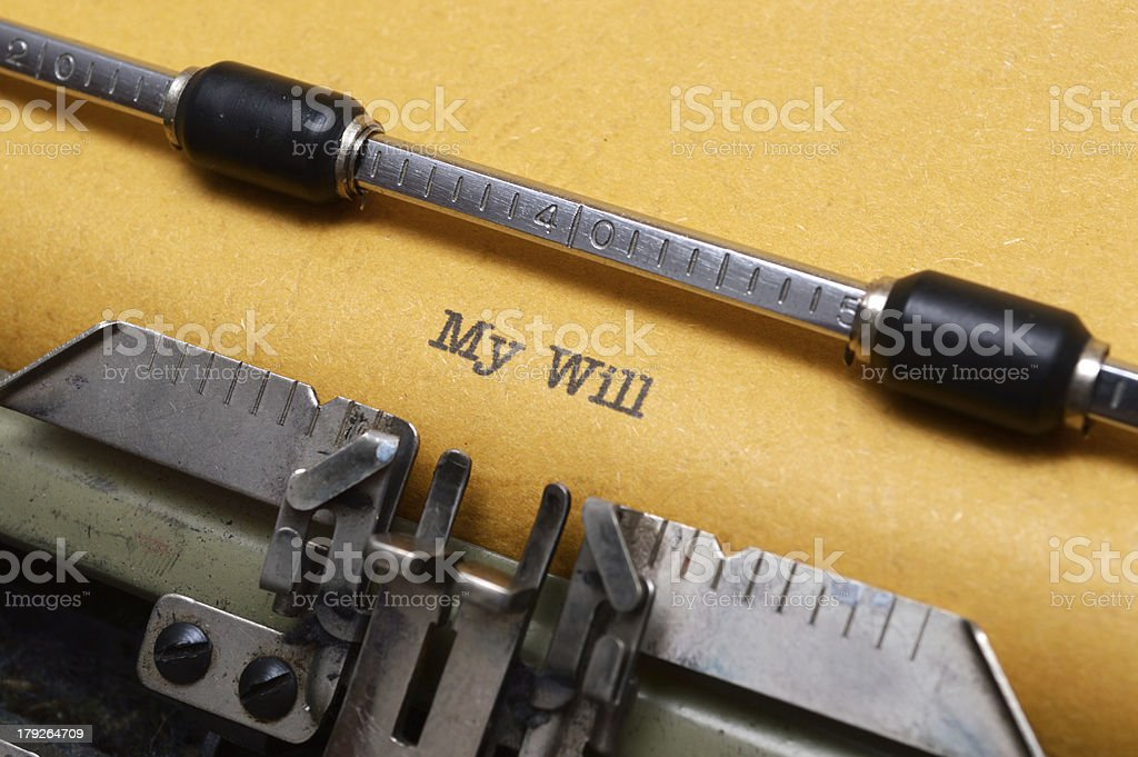 My will royalty-free stock photo
