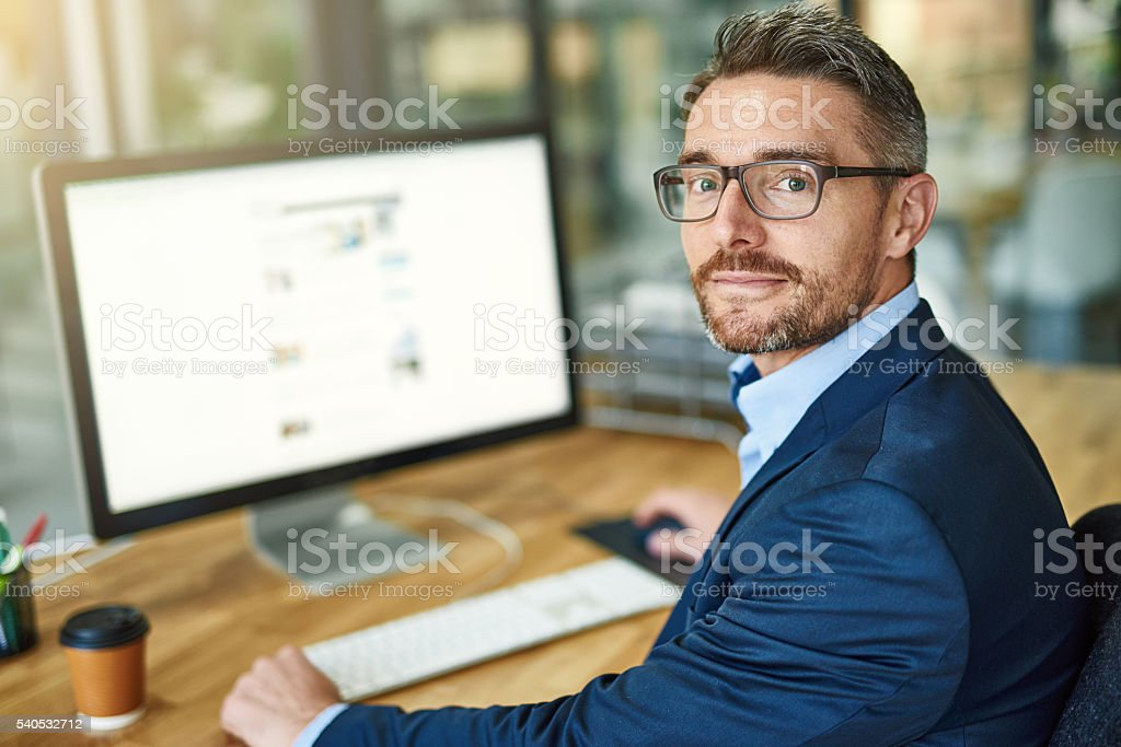 My workday is more streamlined thanks to technology stock photo