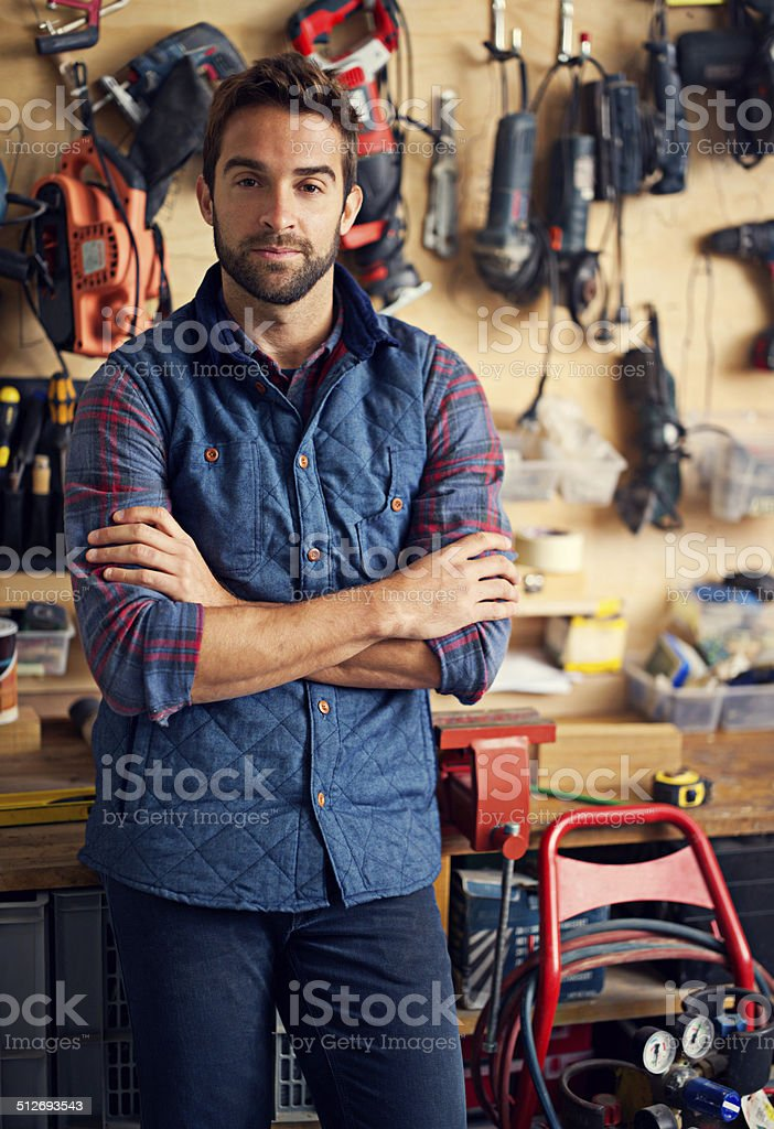 My workshop, my way stock photo