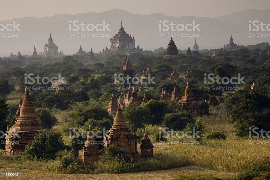 Myanmar: Bagan Temples on the Plain royalty-free stock photo
