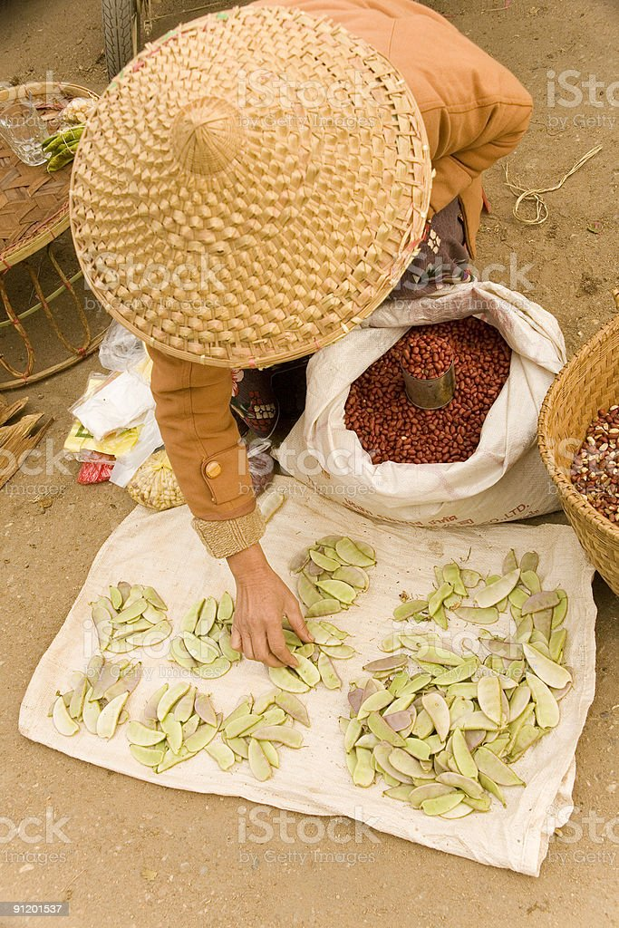 Myanmar Beans For Sale In Market Stock Photo - Download