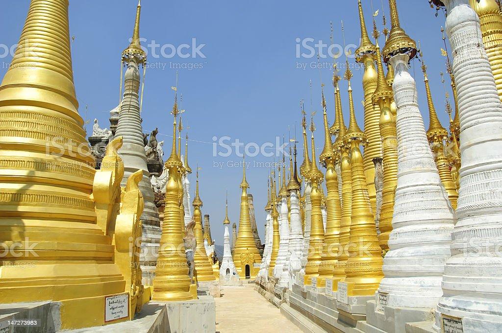 Myanmar / Burma - Holy Pagoda near Lake Inle royalty-free stock photo