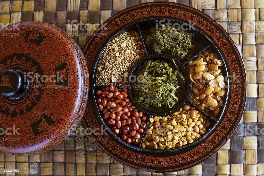 Myanmar food stock photo