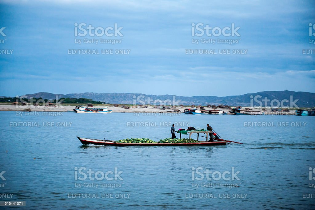 Myanmar life stock photo