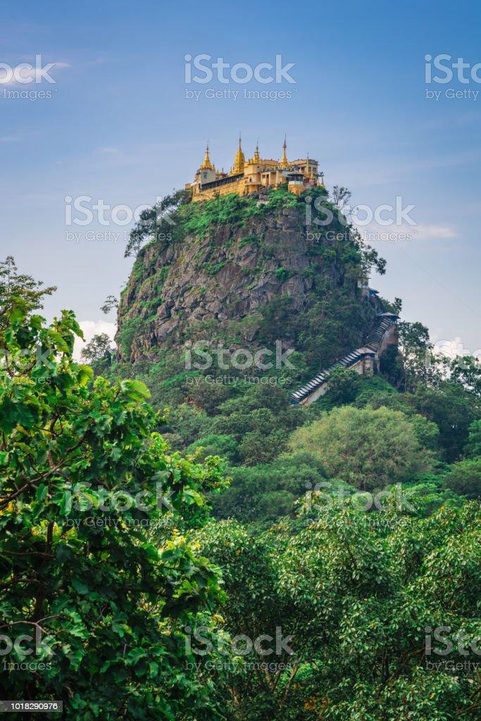 Myanmar Monastery Mount Popa Taung Kalat stock photo
