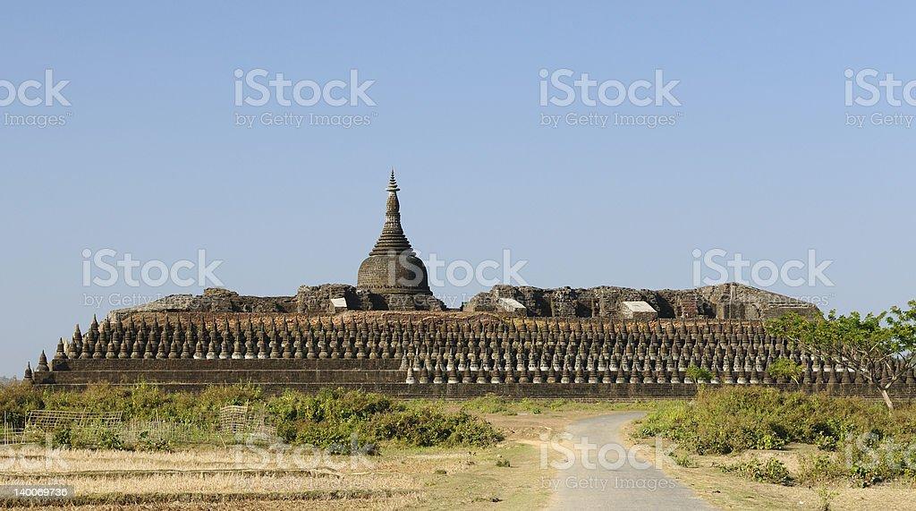 Myanmar (Burma), Mrauk U - Kothaung Temple stock photo
