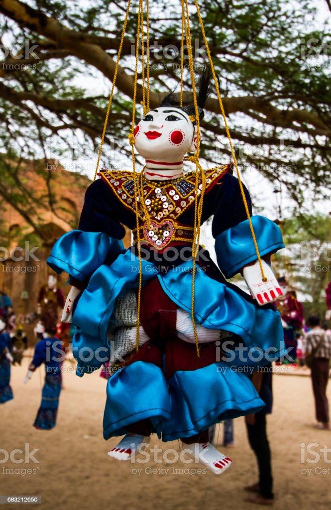 Myanmar puppets 免版稅 stock photo