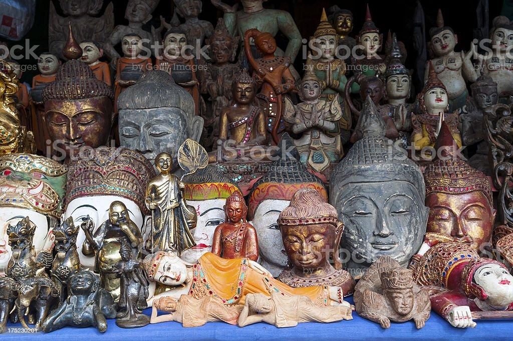 Myanmar souvenirs stock photo
