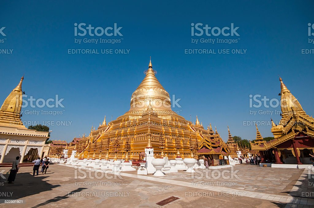 myanmar temple stock photo
