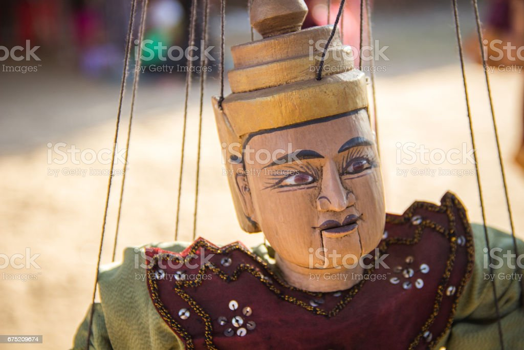 Myanmar tradition doll hanging royalty-free stock photo