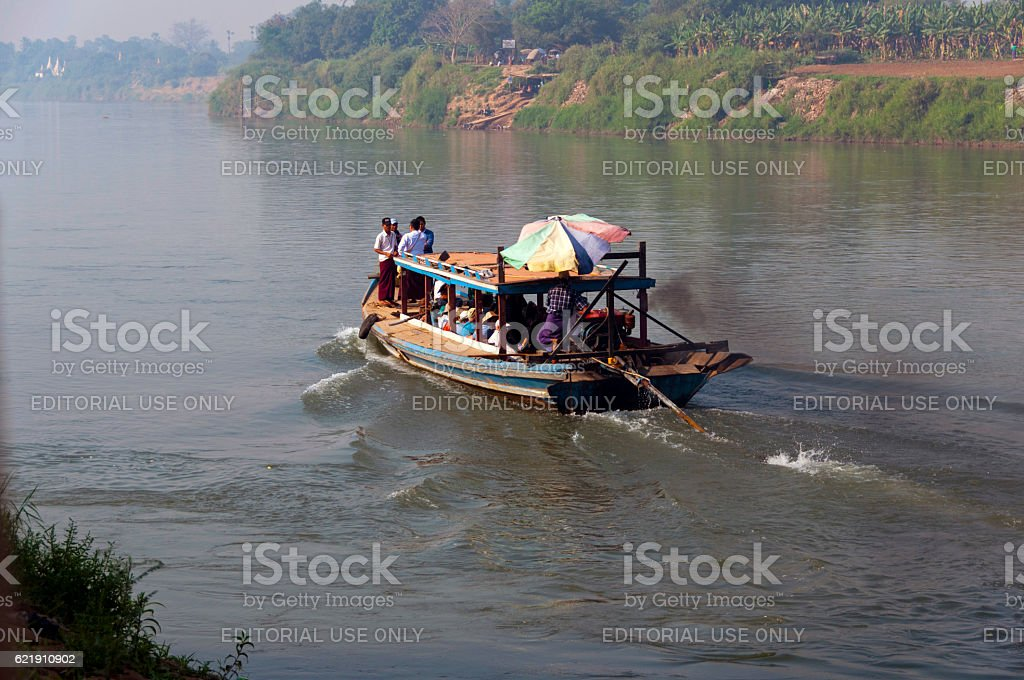 Myanmar Water Taxi stock photo