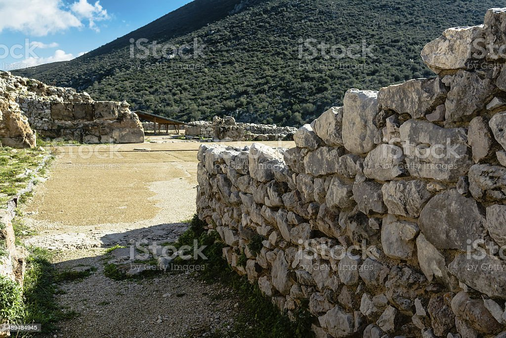 Mycenae, archaeological place in Greece stock photo