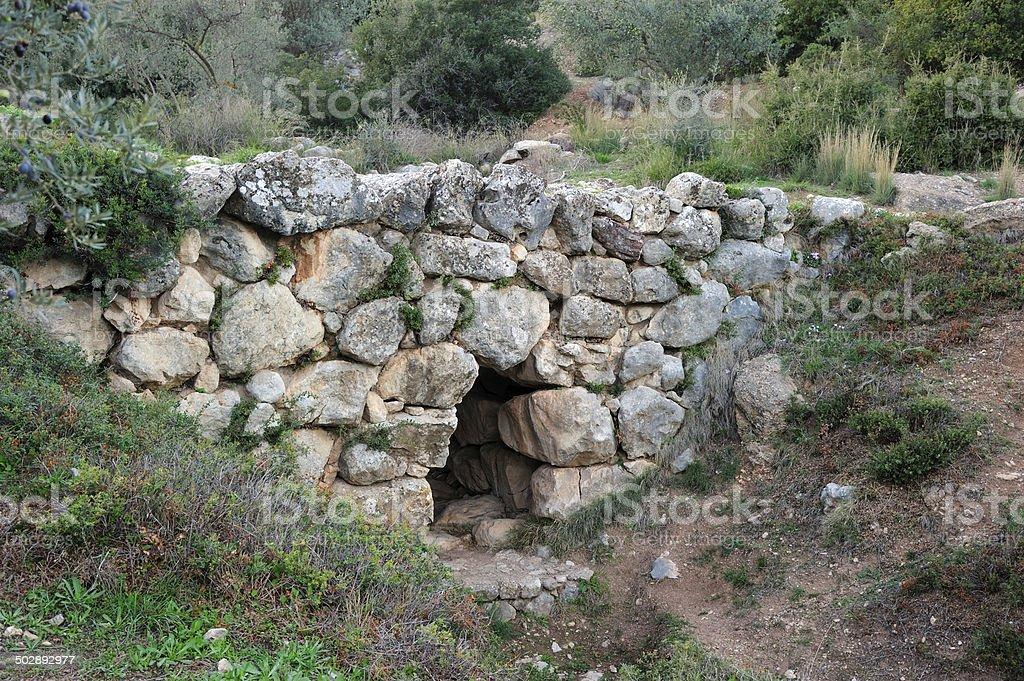 Mycenaean Βridge stock photo