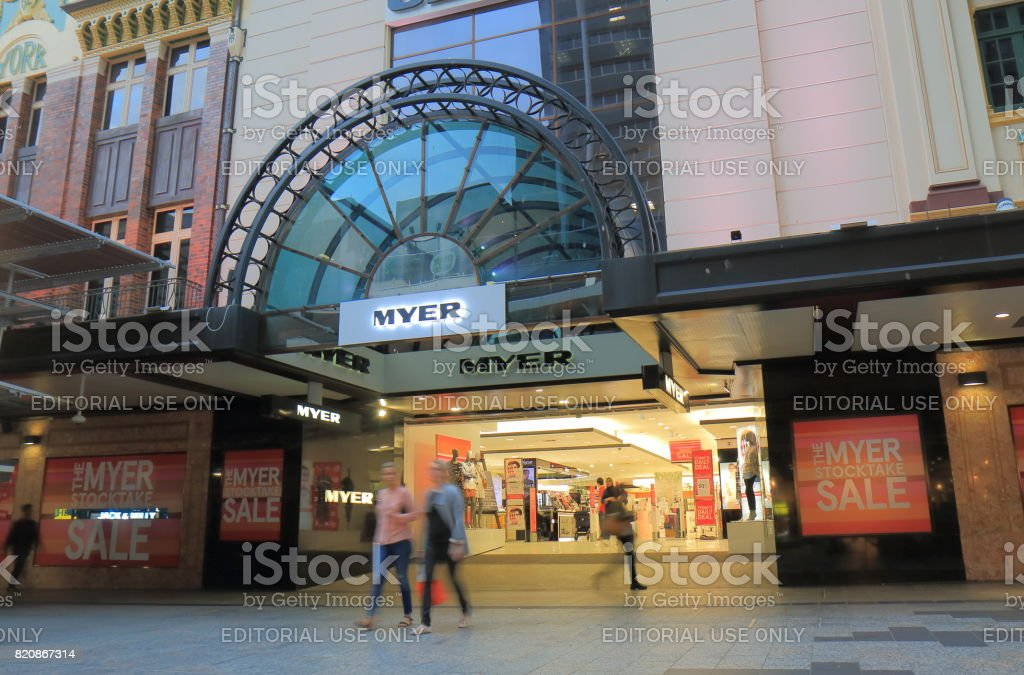 Myer department store shopping Brisbane Australia