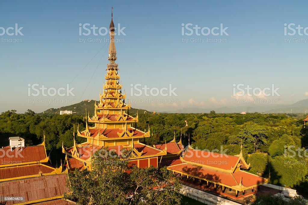 Myey Nan Taw, the Lion Throne room building stock photo