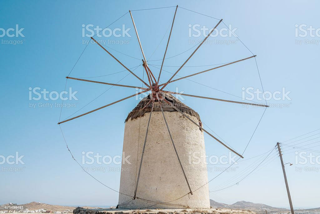 Mykonos Greece Typical Windmill royalty-free stock photo