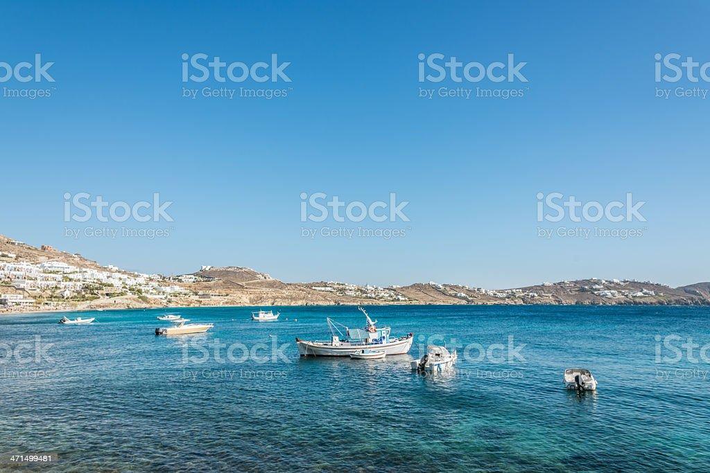 Mykonos Harbor, Greece royalty-free stock photo