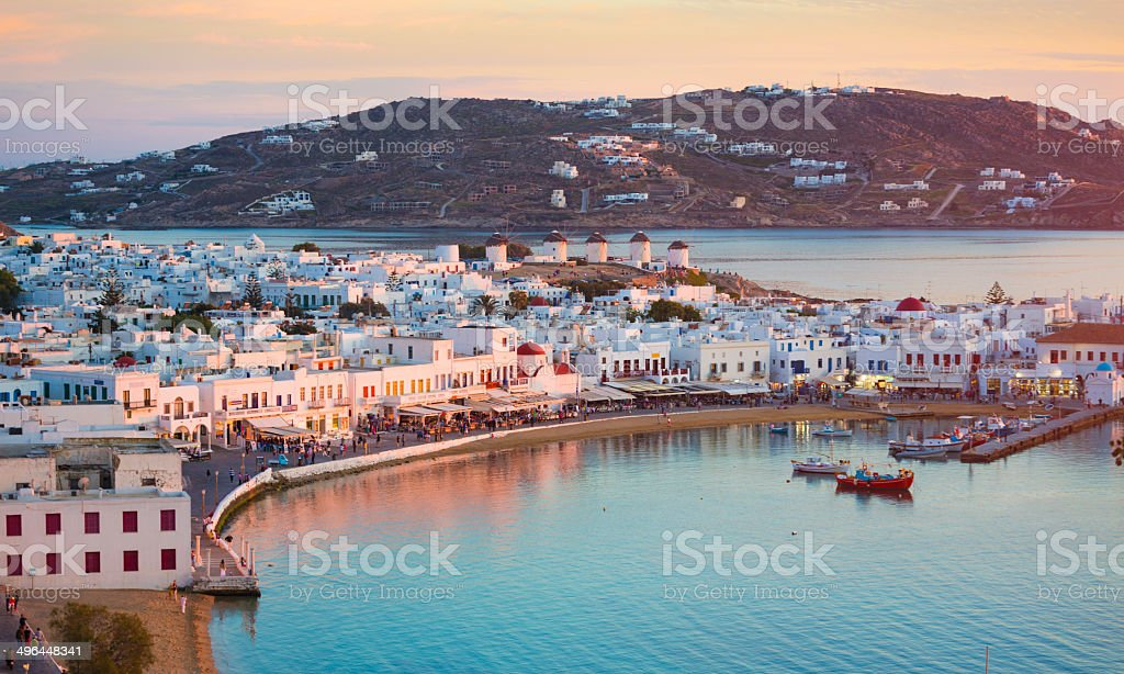 Mykonos in Greece stock photo