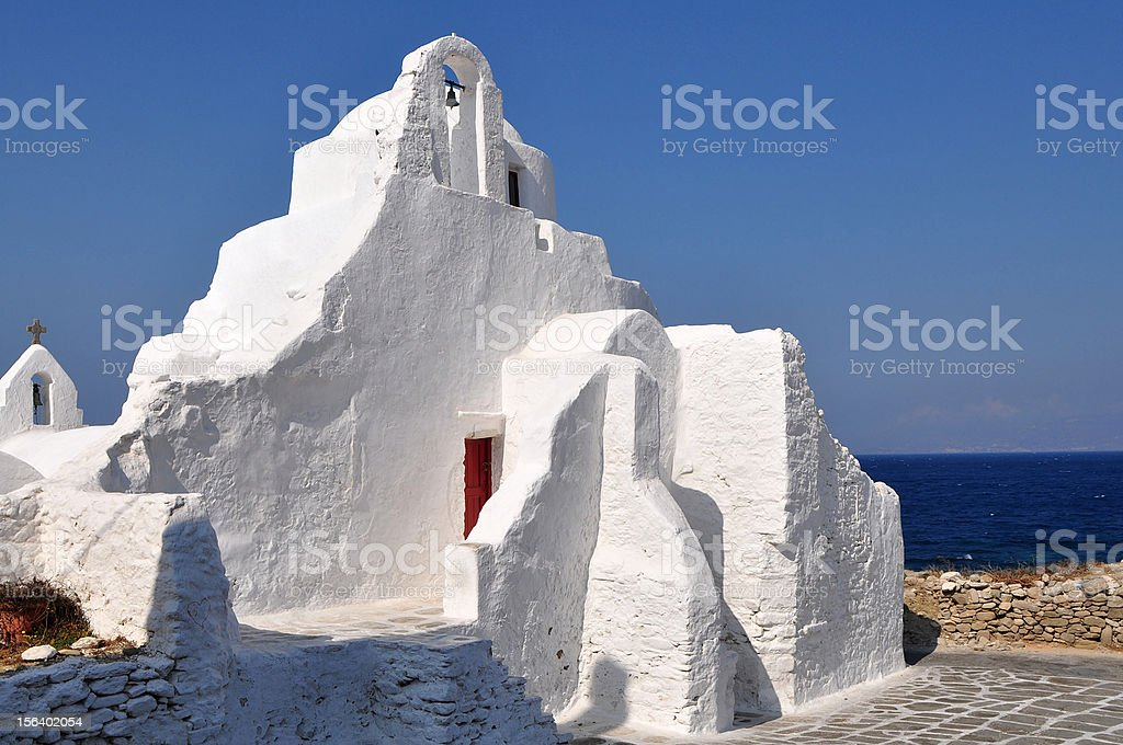 mykonos islnad church,Greece royalty-free stock photo