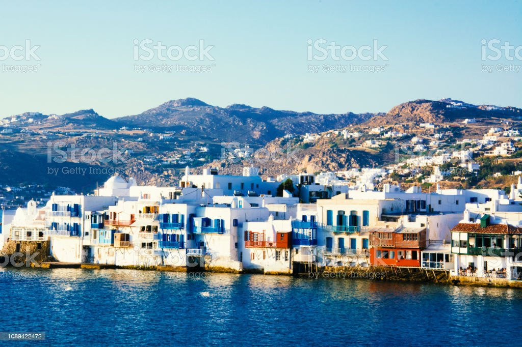 Mykonos - Little Venice stock photo