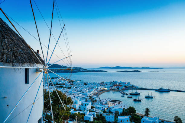 Mykonos town, Mykonos island, Greece stock photo