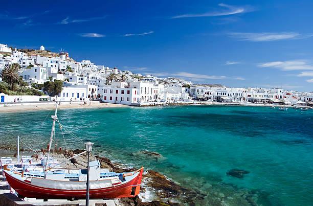 mykonos town - grekiska övärlden bildbanksfoton och bilder