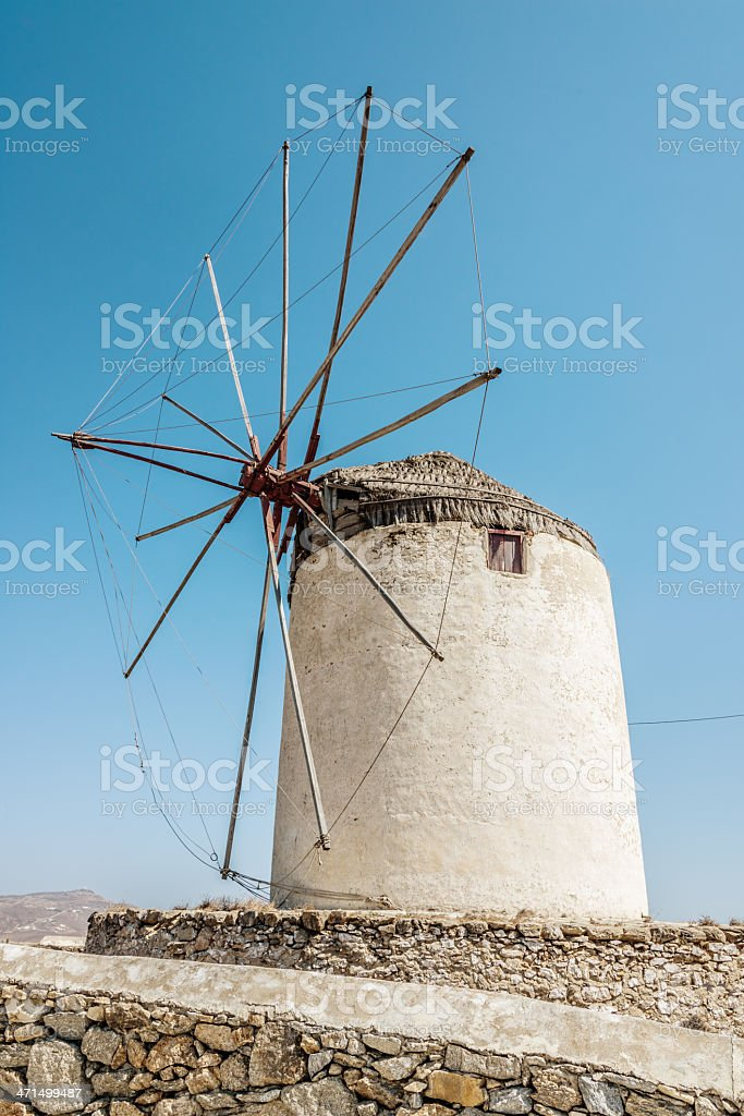 Mykonos Windmill,Greece royalty-free stock photo